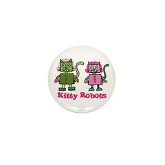 Kitty Robots Mini Button (10 pack)