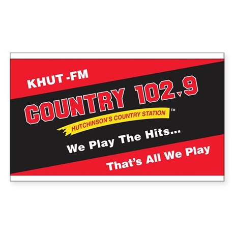 Country 102.9 Rectangle Sticker
