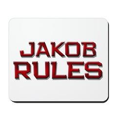 jakob rules Mousepad