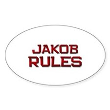 jakob rules Oval Decal