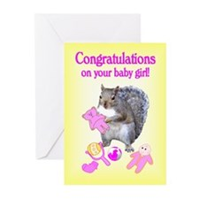 New Baby Girl Greeting Cards (Pk of 10)
