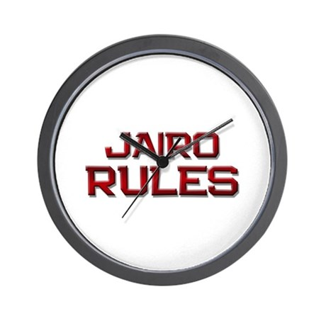 jairo rules Wall Clock