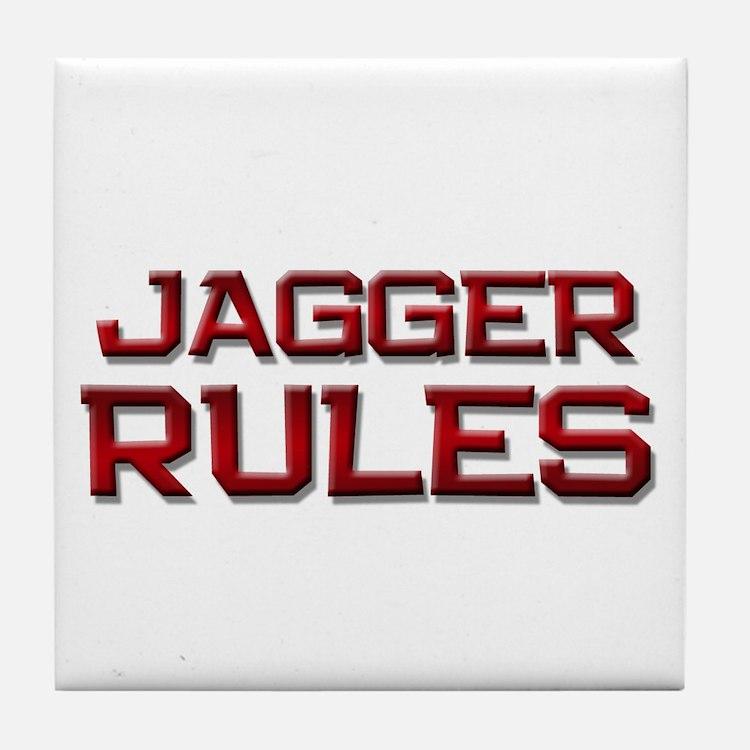 jagger rules Tile Coaster