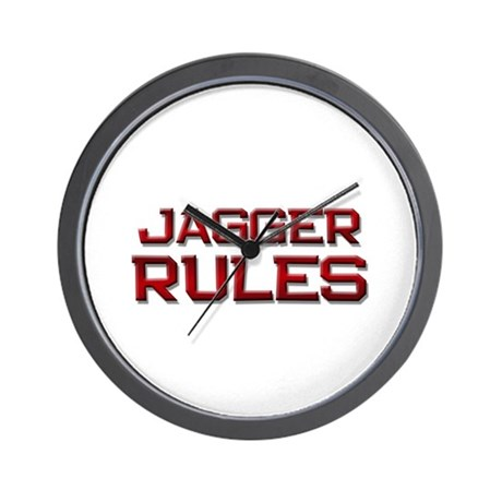 jagger rules Wall Clock