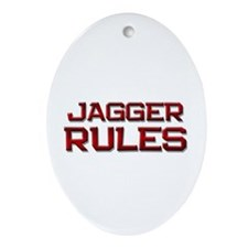 jagger rules Oval Ornament