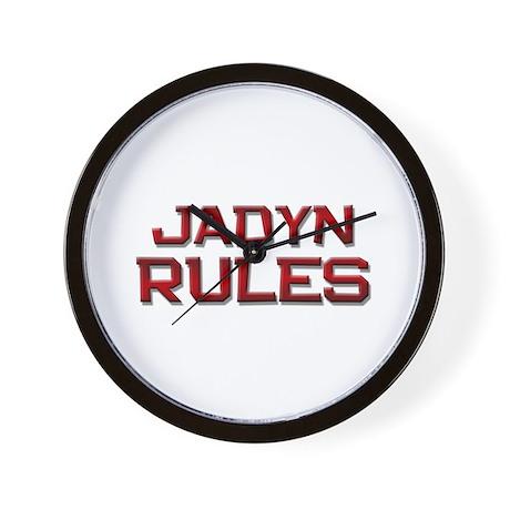 jadyn rules Wall Clock