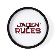 jaden rules Wall Clock