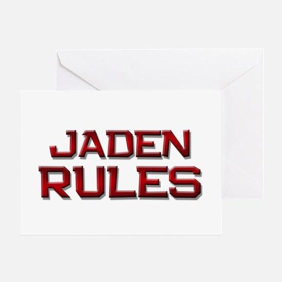 jaden rules Greeting Card