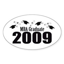 MBA Graduate 2009 (Black Caps And Diplomas) Sticke