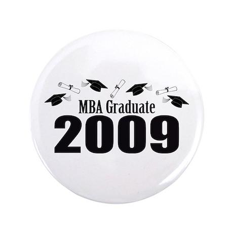 """MBA Graduate 2009 (Black Caps And Diplomas) 3.5"""" B"""