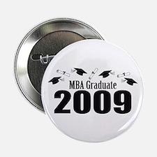 """MBA Graduate 2009 (Black Caps And Diplomas) 2.25"""""""
