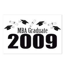 MBA Graduate 2009 (Black Caps And Diplomas) Postca