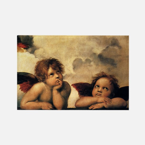 Angels by Raphael Rectangle Magnet (10 pack)