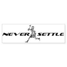 Lacrosse Never Settle Bumper Bumper Sticker