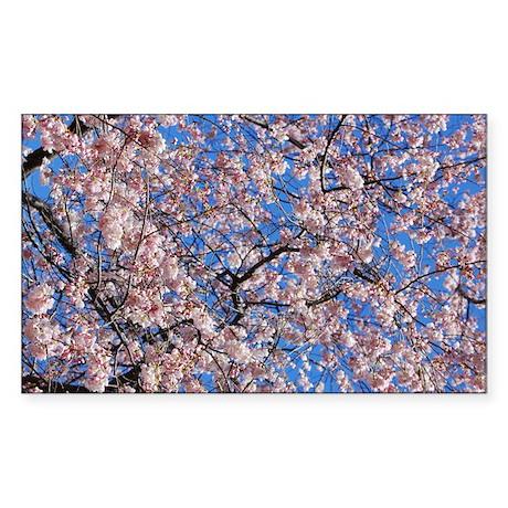 Japanese Cherry Blossom Rectangle Sticker