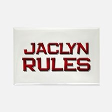 jaclyn rules Rectangle Magnet