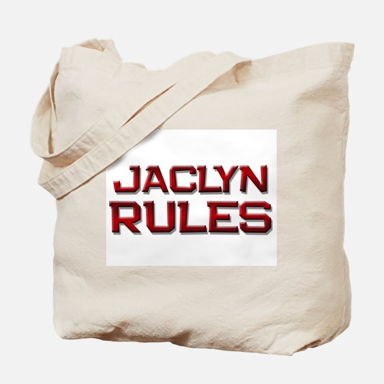 jaclyn rules Tote Bag