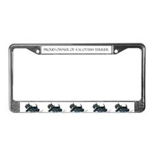 Laughing Scottish Terrier License Plate Frame