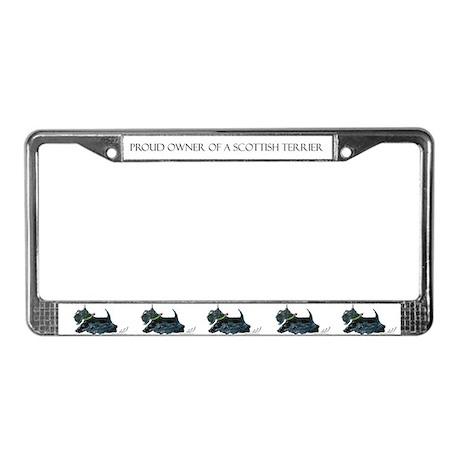 Laughing Scottish Terrier License Plate Frame