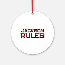 jackson rules Ornament (Round)