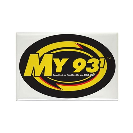 My 93.1 Rectangle Magnet