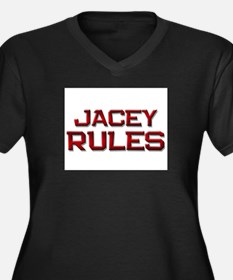 jacey rules Women's Plus Size V-Neck Dark T-Shirt