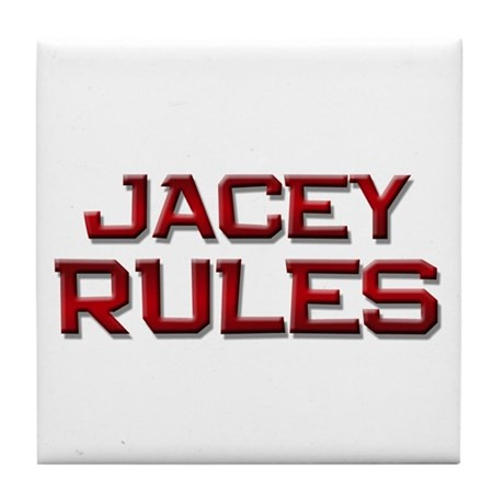 jacey rules Tile Coaster