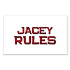 jacey rules Rectangle Decal