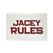 jacey rules Rectangle Magnet