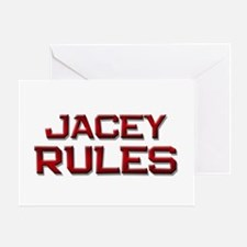 jacey rules Greeting Card