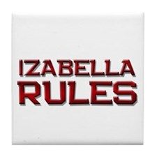 izabella rules Tile Coaster