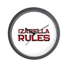 izabella rules Wall Clock