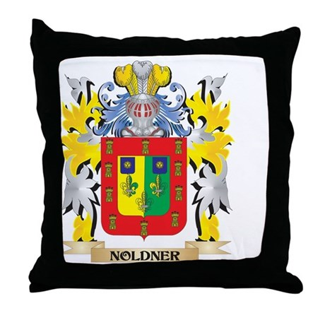 Noldner Coat of Arms - Family Crest Throw Pillow