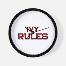 ivy rules Wall Clock