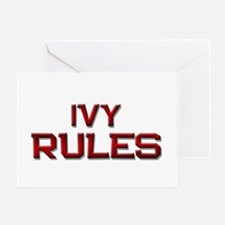ivy rules Greeting Card