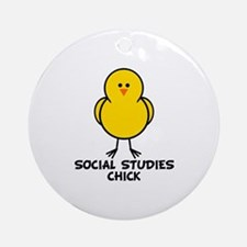 Social Studies Chick Ornament (Round)