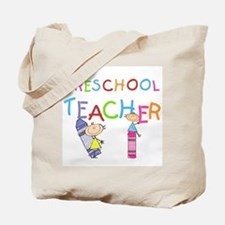 Crayons Preschool Teacher Tote Bag