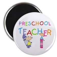 "Crayons Preschool Teacher 2.25"" Magnet (100 p"