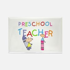Crayons Preschool Teacher Rectangle Magnet