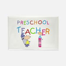 Crayons Preschool Teacher Rectangle Magnet (10 pac