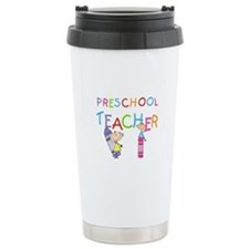 Crayons Preschool Teacher Travel Mug