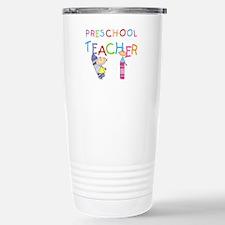 Crayons Preschool Teacher Travel Mug