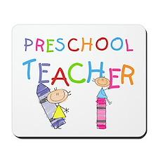 Crayons Preschool Teacher Mousepad