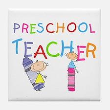Crayons Preschool Teacher Tile Coaster
