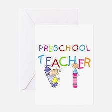 Crayons Preschool Teacher Greeting Card