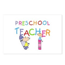 Crayons Preschool Teacher Postcards (Package of 8)