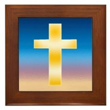 Christian Cross Framed Tile