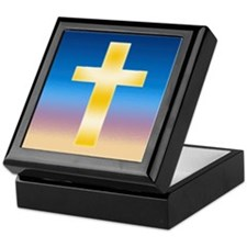 Christian Cross Keepsake Box