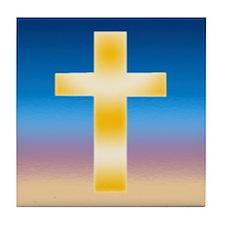 Christian Cross Tile Coaster