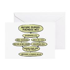 Student Nurse Diagnosis 52 Greeting Cards (Pk of 2